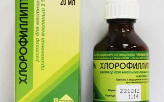 Как полоскать горло спиртовым Хлорофиллиптом