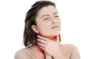 При глотании возникает сильная боль в горле