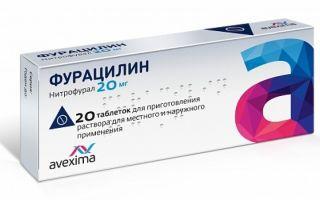 Польза полоскания горла фурацилином. Инструкция по применению