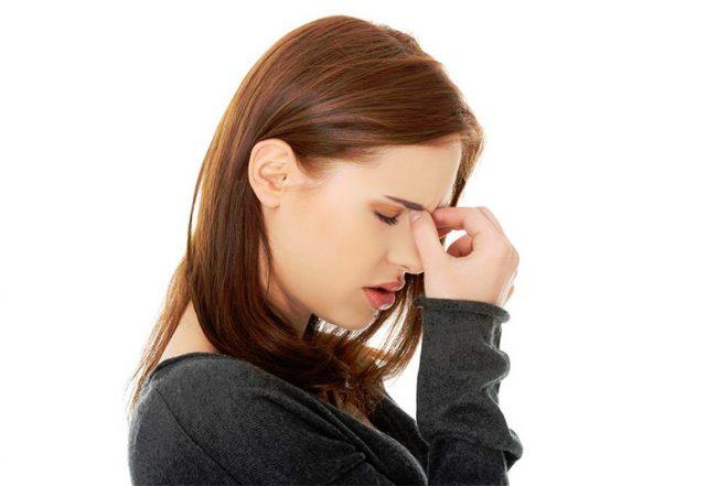 Боль между глаз при синусите
