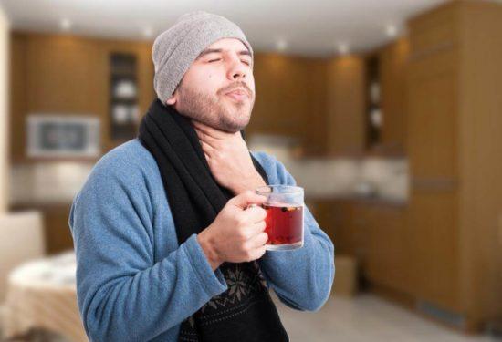 Боль при глотании и температура