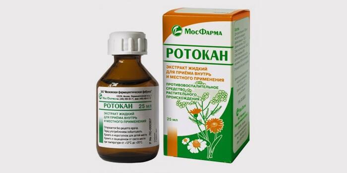 Ротокан – применение для полоскания горла, как разводить