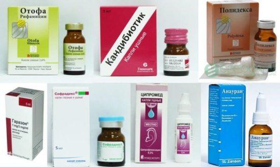 Лечение отита антибиотиками