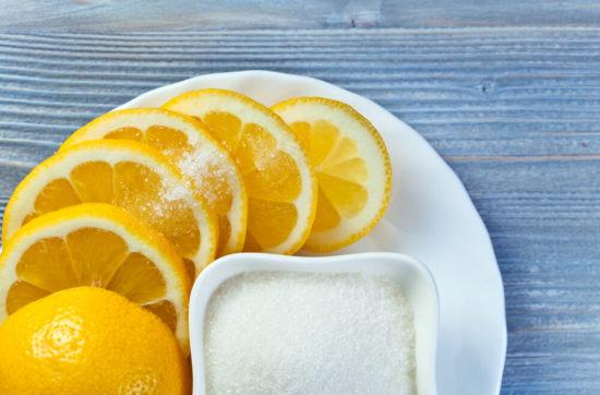 Лимон, сахар и соль