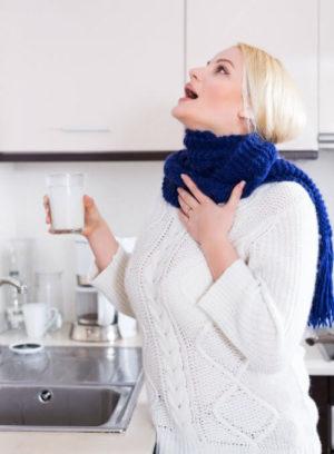 Полоскание горла, как способ лечения