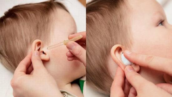 Можно ли капать борную кислоту в ухо при температуре?
