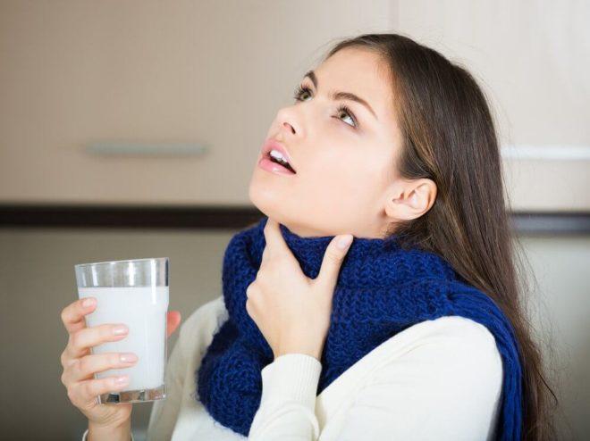 Полоскание горла при тонзиллите