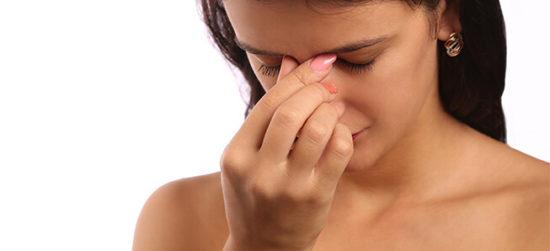 Болевые ощущения в области лба при гайморите