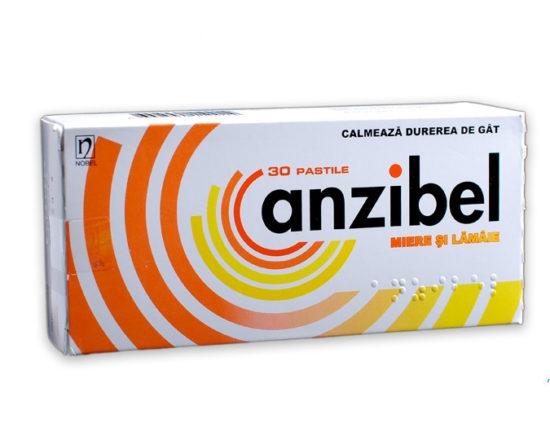 анзибел при болях в горле