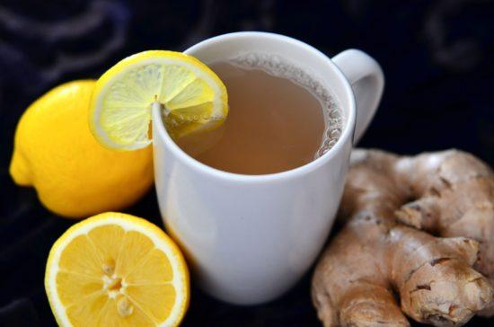 Чай с лимоном и ибирем