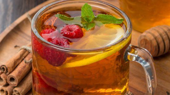 чай с малиной для горла