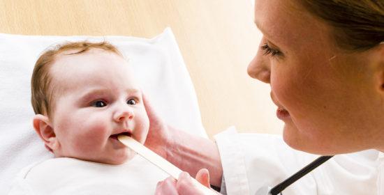 Ангина у младенцев
