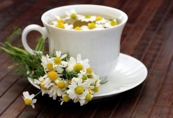 чай с ромашки для горла