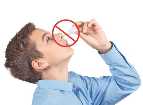 не использовать капли для носа